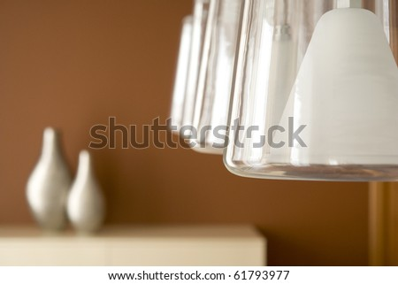 detail of decorations in interior - stock photo