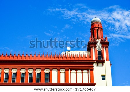 detail of flagler colleg ein st. augustine, florida - stock photo