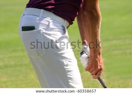 Detail of Golfer - stock photo