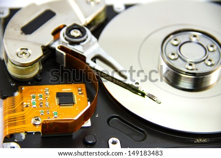 Detail of hard drive - stock photo