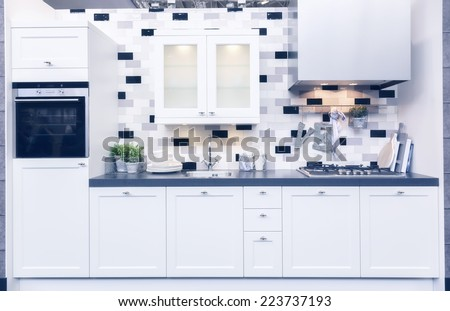 detail of home kitchen  - stock photo