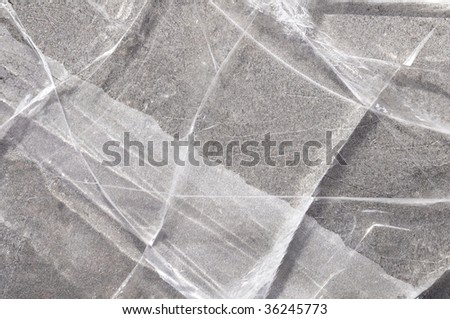 detail of ice, background - stock photo