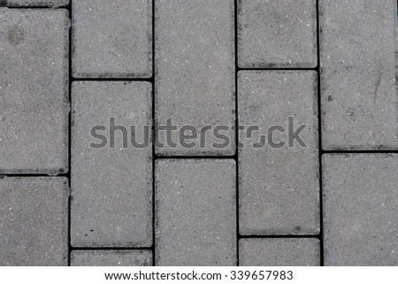 detail of interlocking concrete pavement - stock photo