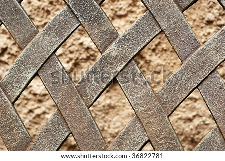 detail of iron fence - stock photo