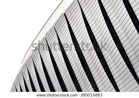 Detail of modern architecture. Architecture pattern - stock photo