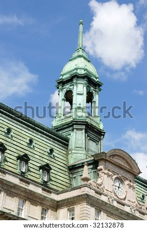 Detail of Old Montreal City Hall - stock photo