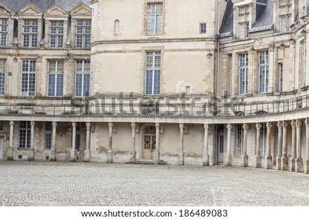 Detail of Royal hunting castle in Fontainebleau - France. - stock photo
