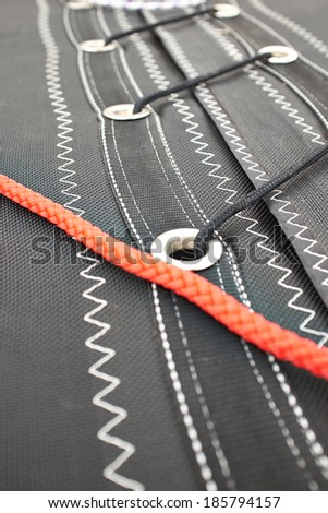 Detail of sail. Abstract background - stock photo