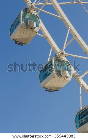 Detail of the cabinets in a ferris wheel - stock photo