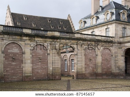 detail of the cathedral and Palais Rohan in Strasbourg (Alsace/France) - stock photo