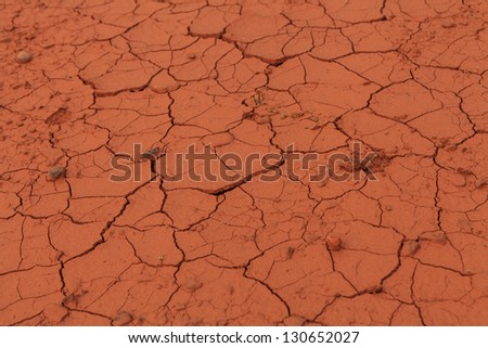Detail of the cracked soil - stock photo