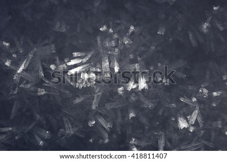 detail of the drawing which forms the icy water - stock photo