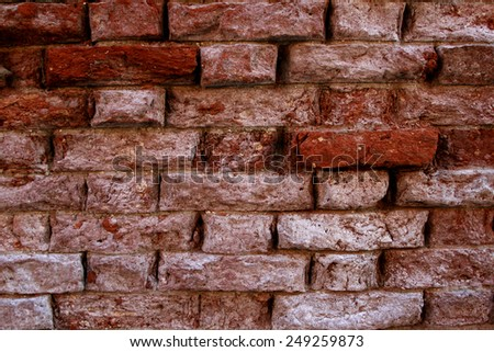 detail of the old brick wall - stock photo