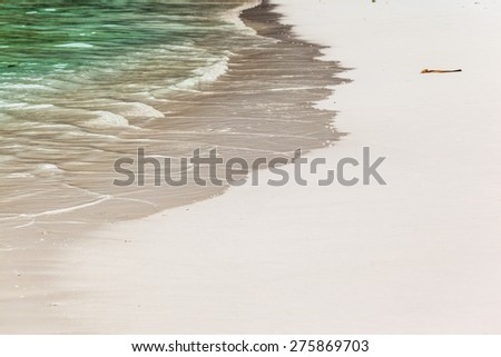 detail of the shoreline in the tropical island named phi-phi, in the andaman sea, Thailand - stock photo
