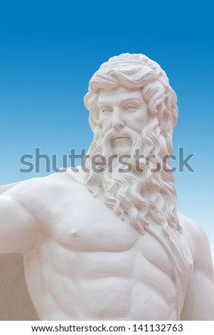 Detail of the statue close up of Poseidon at the Venetian, Thailand - stock photo