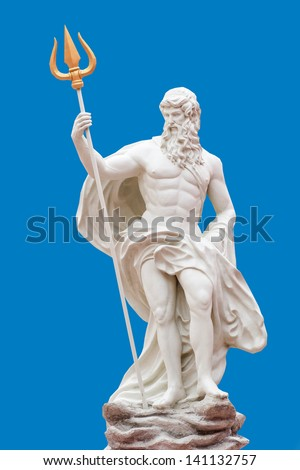 Detail of the statue of Poseidon at the Venetian, Thailand - stock photo