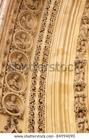 Detail of Westminster Abbey in London, United Kingdom - stock photo