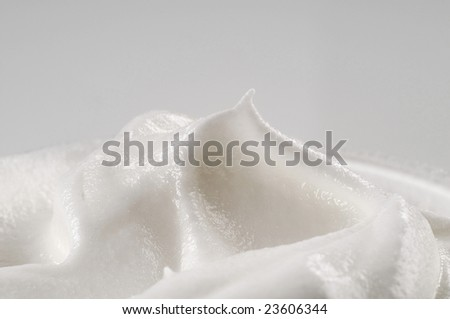Detail of whipped cream - stock photo