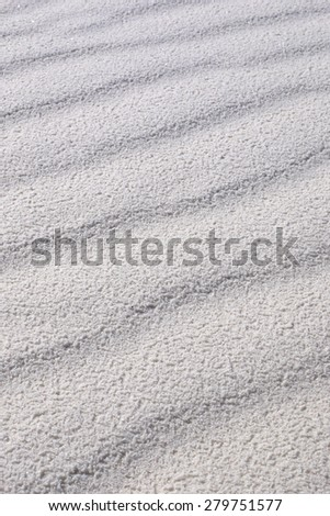 Detail of White Sand Grains Rippling on Desert Floor, White Sands National Monument, New Mexico, USA - stock photo