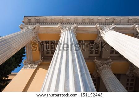 Detail of Zappeion. Athens, Greece. - stock photo
