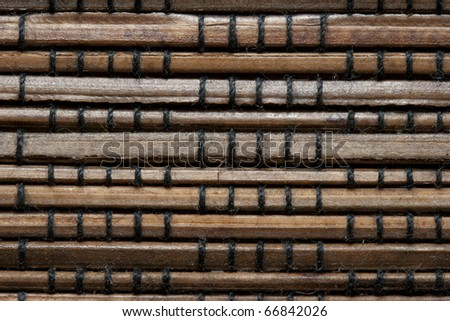 Detail on bamboo wall - stock photo