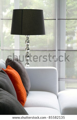 detail shot of modern living room furniture - stock photo