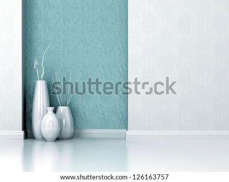 Detail shot of modern living room wall. Interior design. - stock photo