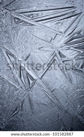 Detailed background ice texture - stock photo