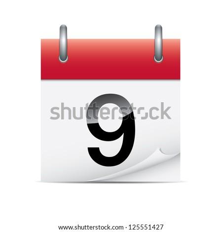 Detailed calendar icon - stock photo