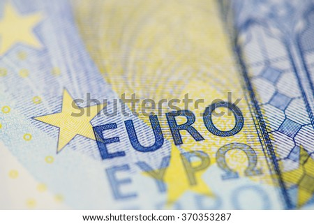 Detailed close up of a twenty Euro banknote  - stock photo