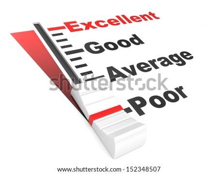 detailed 3d illustration of a customer satisfaction regulator - stock photo