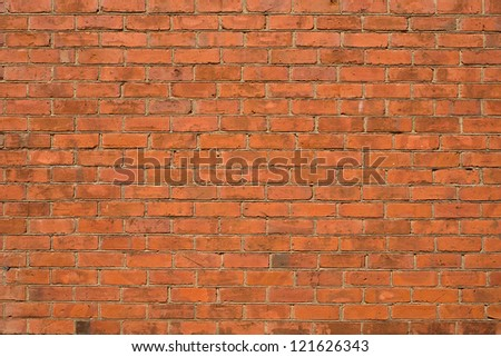 Detailed Red Brick Wall - stock photo