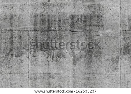 Detailed seamless dark gray concrete wall background photo texture - stock photo