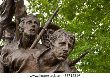 Details from the North Carolina memorial statue at Gettysburg - stock photo