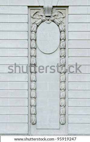 Details of classic style wall decoration - stock photo