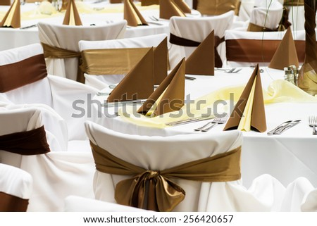 details of event or wedding table - stock photo
