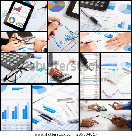 Details of financial and accounting related images - stock photo