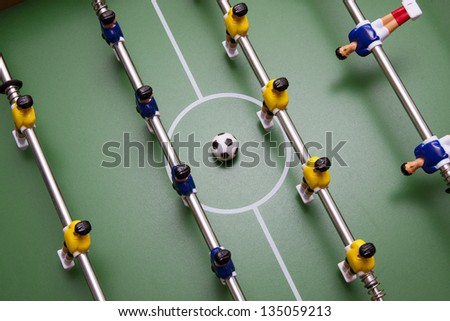 details of football players - stock photo