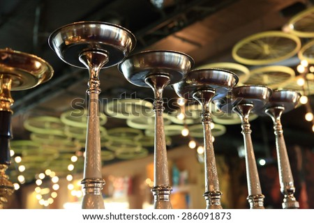Details of hookah in the arabic cafe - stock photo