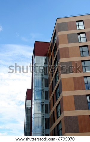 Details of modern architecture - stock photo