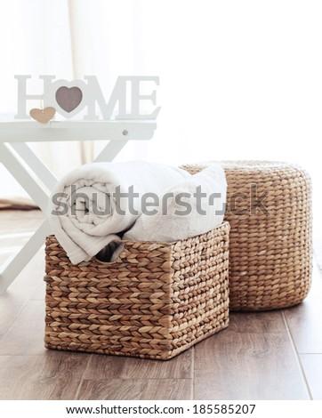 Details of modern cozy interior - stock photo