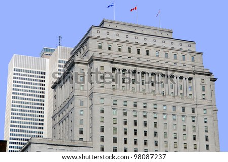 Details of Montreal's building, Quebec, Canada - stock photo
