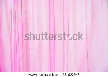 Details of pink curtains in the wedding ceremony. - stock photo