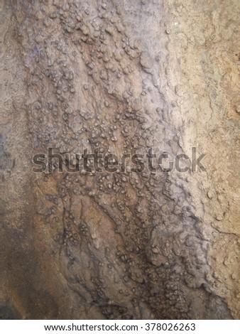 Details of rock erosion - blur - stock photo
