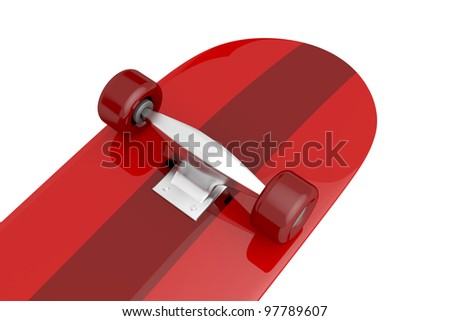 Details of skateboard wheels on white background - stock photo