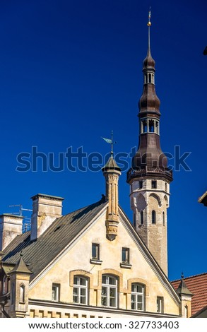 Details of Tallinn architecture - Estonia - stock photo