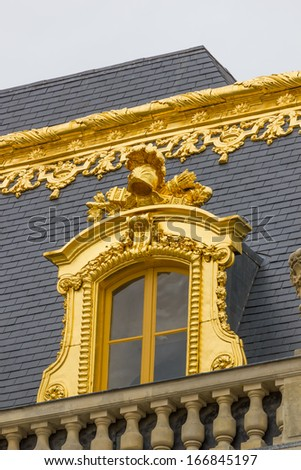 Details of the Versailles palace in Paris France - stock photo