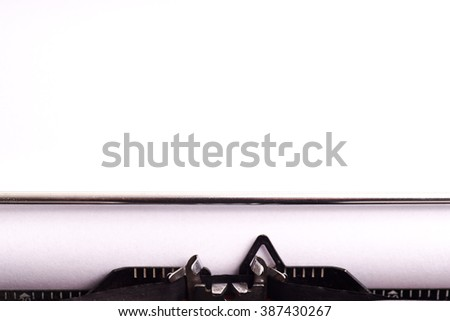 Details on antique typewriter. Vintage and retro, Copy space - stock photo