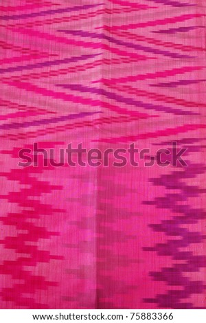 details woven silk sarong  Indonesia isolated on white - stock photo