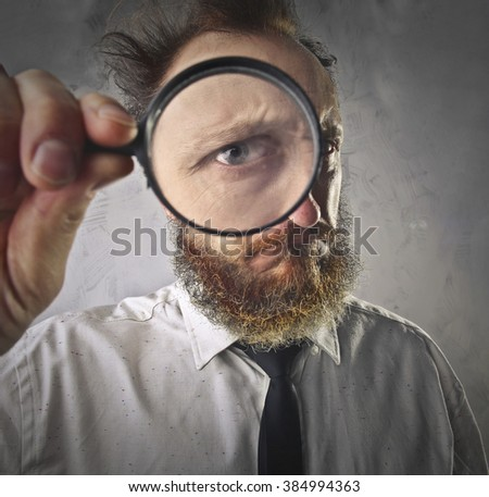 Detective at work - stock photo